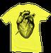 Image of YELLOW HEART BREAK TEE