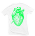 Image of WHITE HEART BREAK TEE