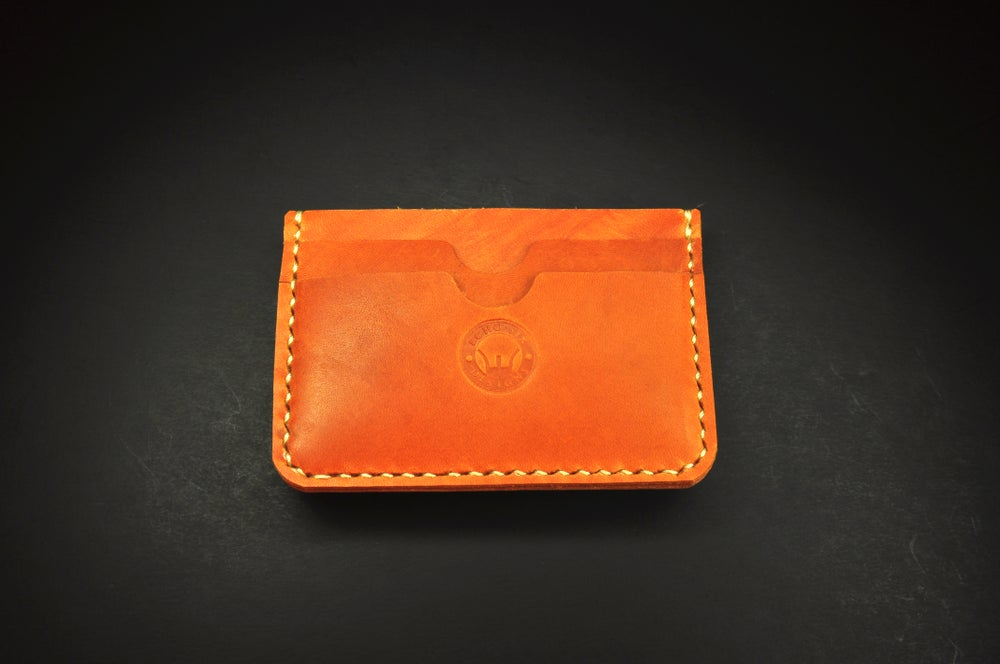 Image of New Haven 3 Pocket Money Clip Leather Wallet Handmade