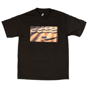 Image of PLEASURES - COP CHASE' T-SHIRT (BLACK)