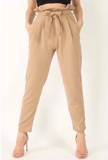 Image of Cigarette trousers in black or burgundy