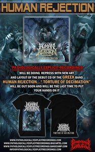 Image of HUMAN REJECTION-TORTURE OF DECIMATION CD + T-SHIRT