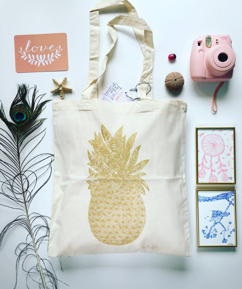 Image of Tote Bag *Gold*Pineapple*