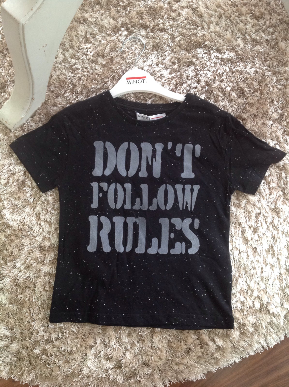 "Image of Boys tee ""don't follow rules"""