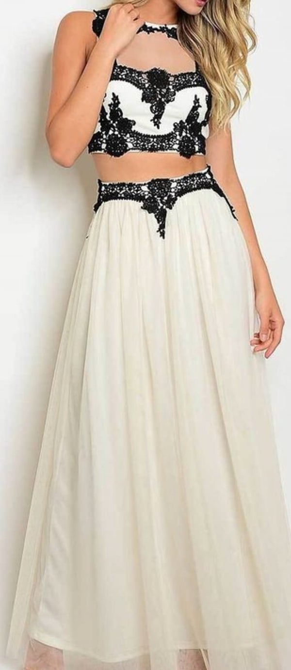 Image of TULLE TOP AND SKIRT SET