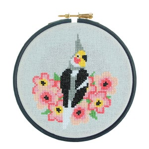 Image of Cockatiel cross-stitch kit