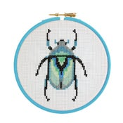 Image of Grey Beetle cross-stitch kit
