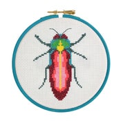 Image of Pink Beetle cross-stitch kit