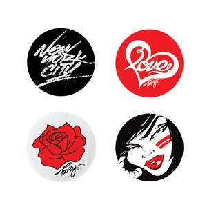 Image of Pin Button 4Pk!