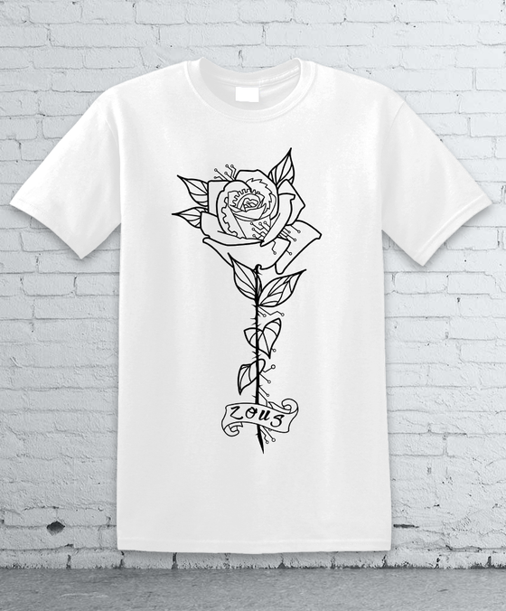 Image of M ZOUS ROSE TEE WHITE