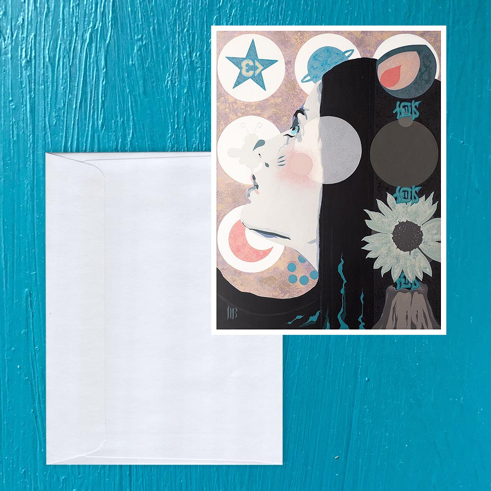 Image of Dazzling Dissolving: Alice Note card
