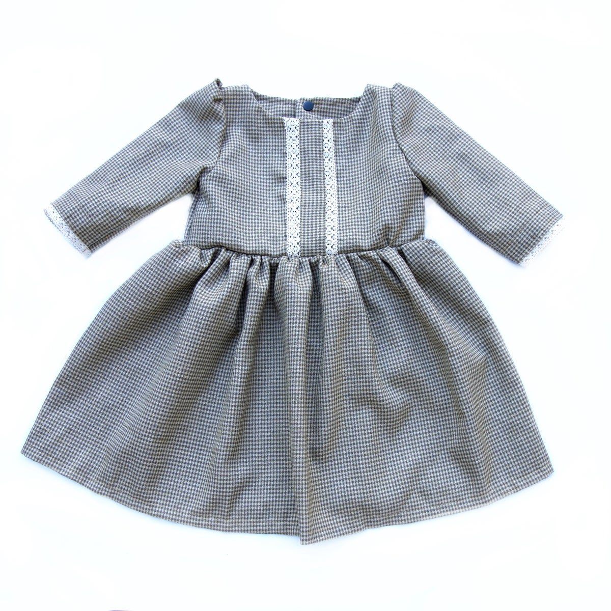 Image of The Anne of Green Gables Dress in Autumn Gingham