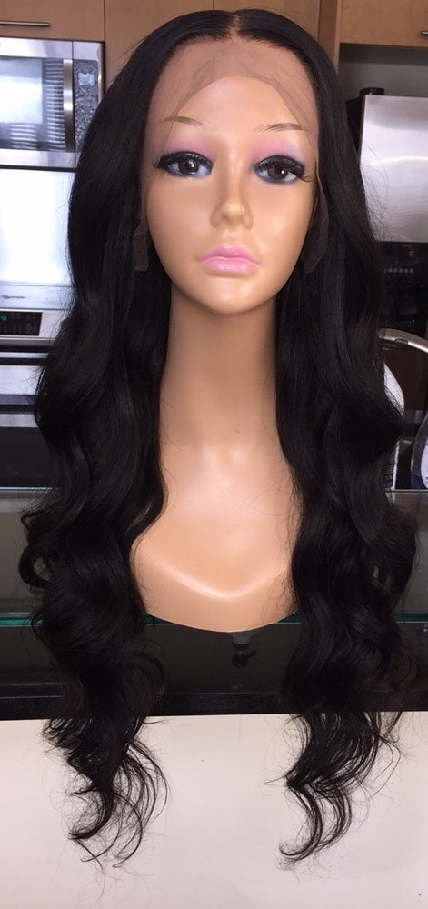 """Image of Indian Natural Waves 26"""" Custom Lace Frontal Wig!"""