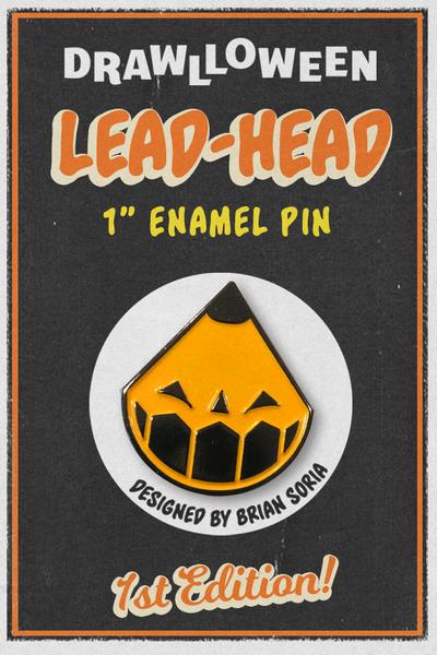 """Image of 1"""" Lead Head Enamel Pin"""