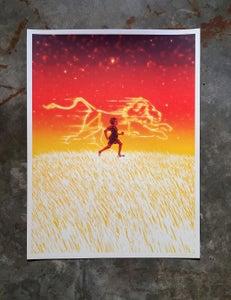 Image of Leo zodiac print