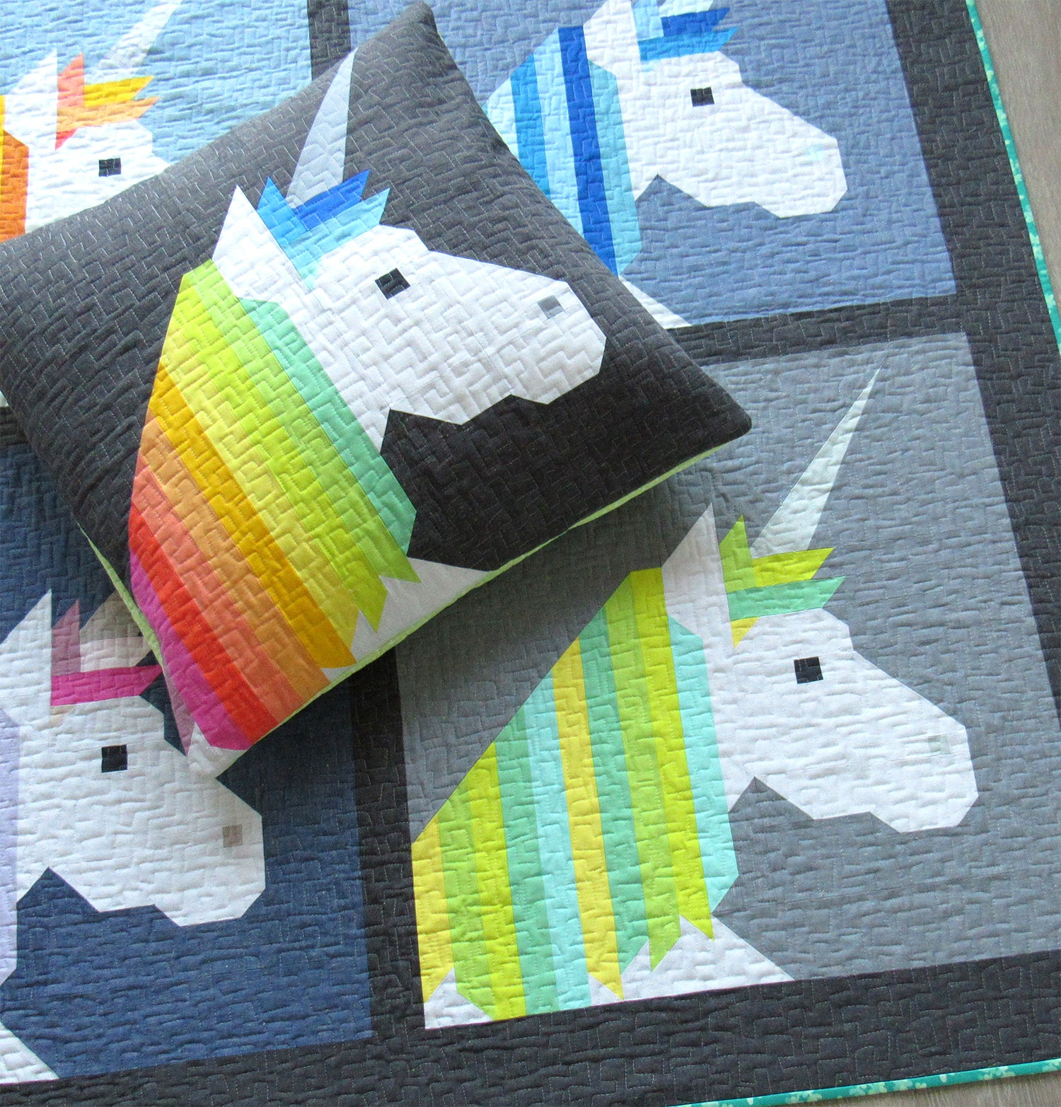 Patterns By Elizabeth Hartman  U2014 Lisa The Unicorn Pdf Quilt