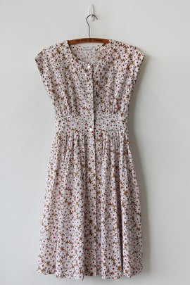 Image of Flower Field Eyelet Cotton Dress