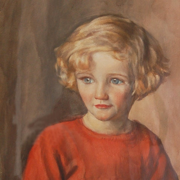 Image of 1930's Portrait of a Young Girl