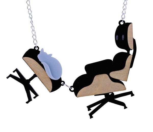 Eames Chair Necklace - Black Heart Creatives