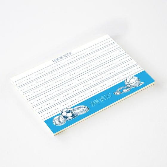Image of BOYS SPORTS LINED NOTEPAD (more colors)