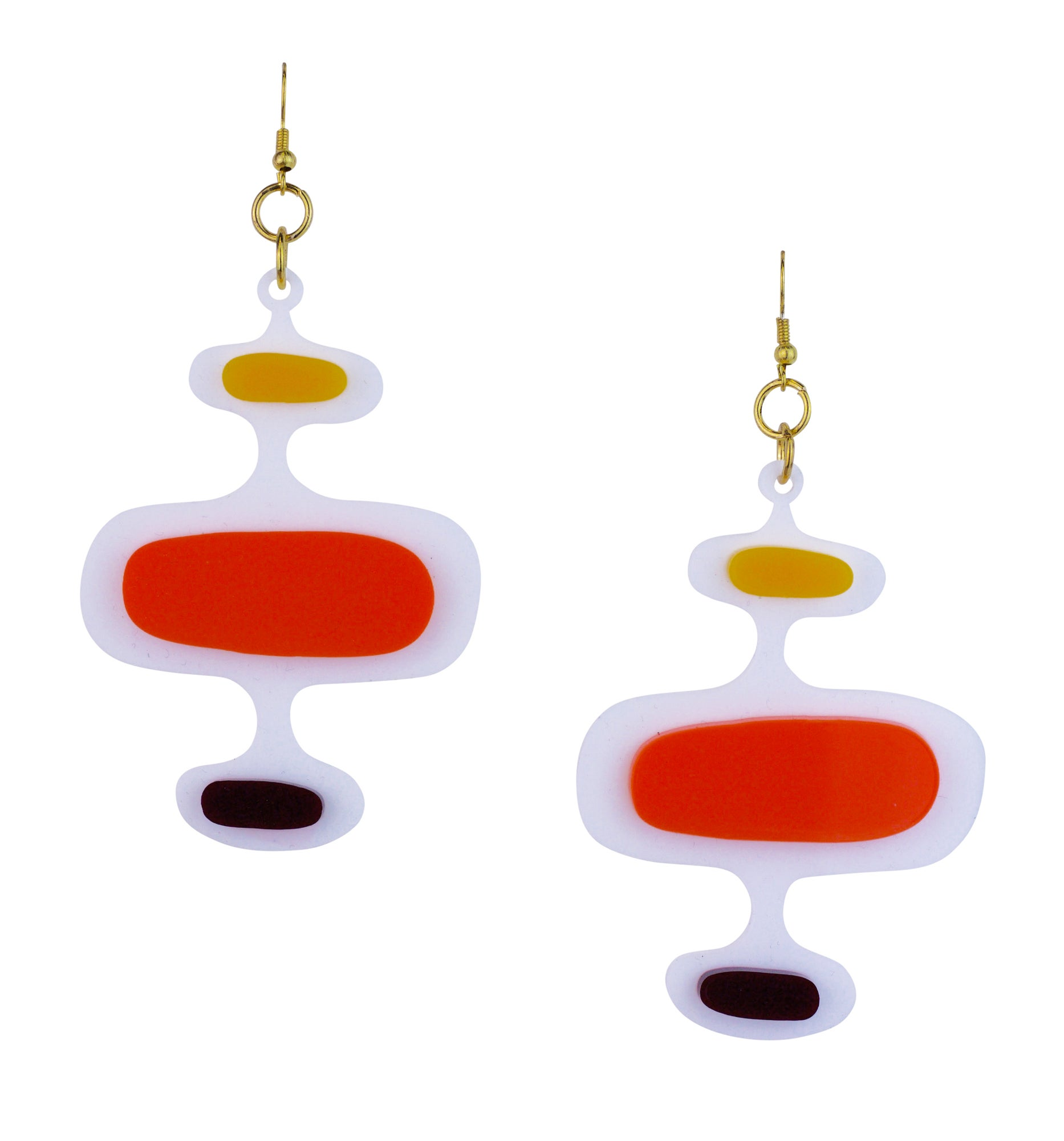 Mid century modern oval pattern earrings black heart for Mid century modern design principles