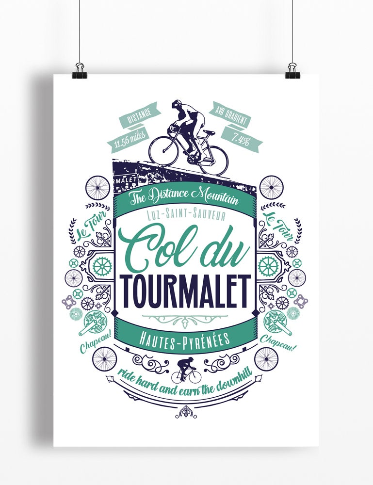 Image of Col Du Tourmalet print - A4 or A3