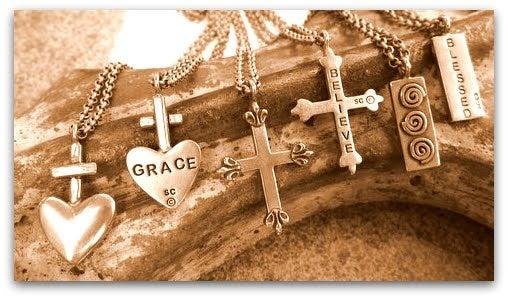 "Image of ""Grace"" mini-pendant (Left in photo)"
