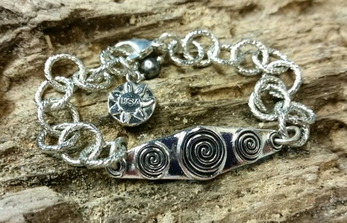 """Image of """"Bless this Woman"""" link-style bracelet"""