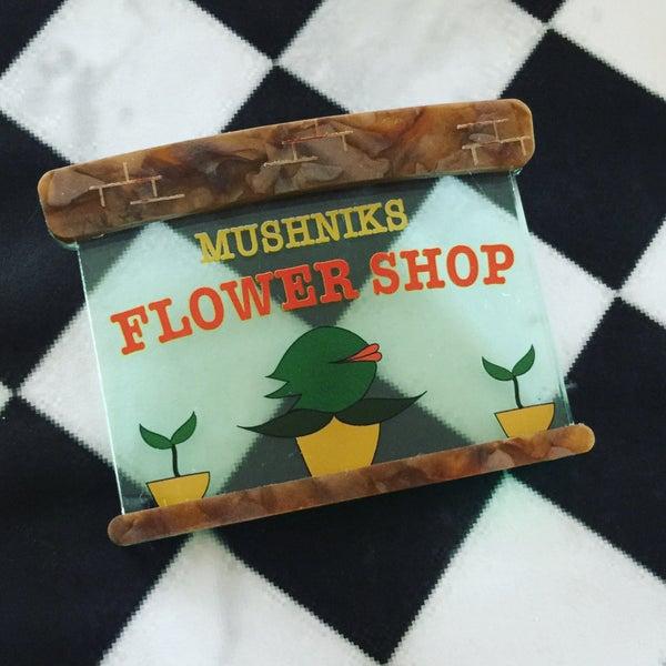 Image of Mushniks Flower Shop Brooch