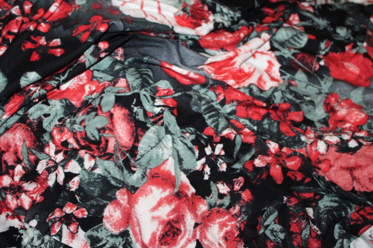 Image of Single Brushed Poly - Smokey Roses