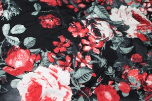 Image of Single Brushed Poly - Smokey Roses