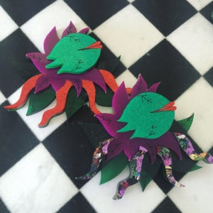 Image of Mean Green Mother (Red Legs Edition) Brooch