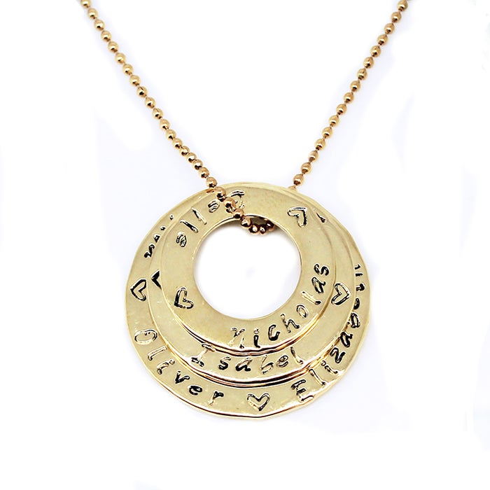 """Image of """"Circle of Love"""" Stack 9K gold Necklace"""