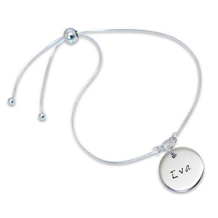 "Image of Personalised ""Disc of Love"" Slider Bracelet"