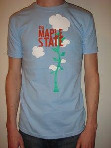 Image of sky blue beanstalk t-shirt
