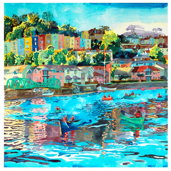 Image of Paddling Along Bristol Harbour