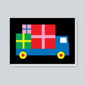 Image of Presents Lorry card