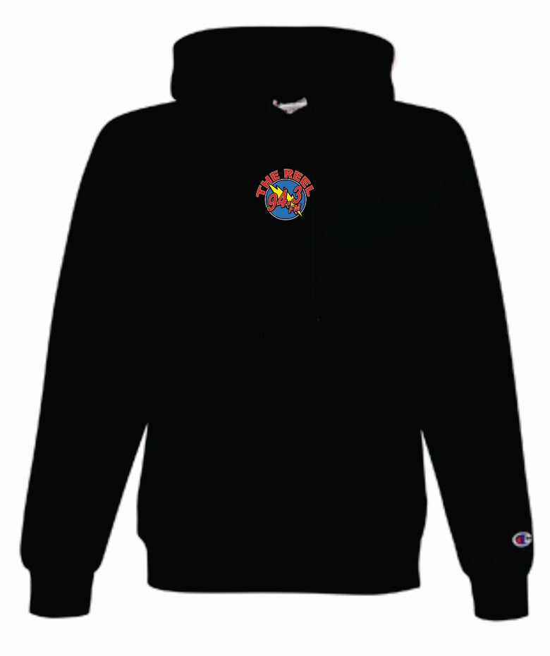 Image of 94.3 The Reel Stitched Champion Hoodie