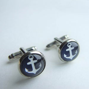 Image of Anchors Aweigh - Cuff Links (Small)