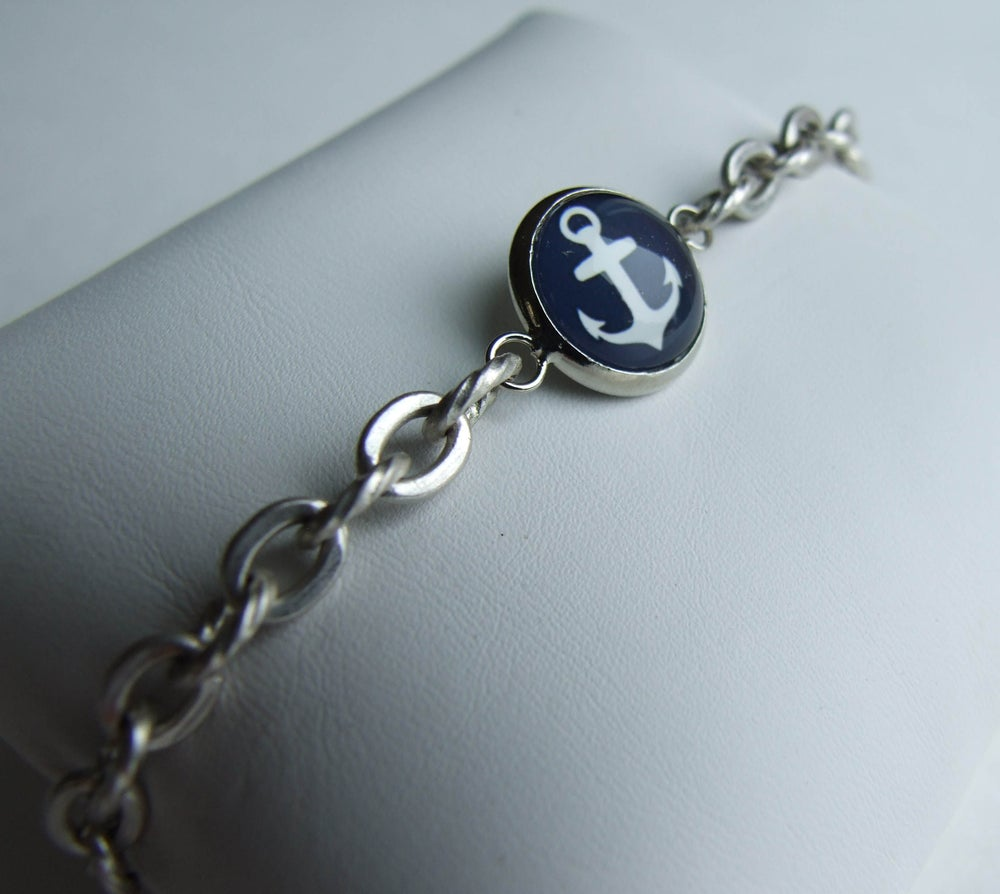 Image of Anchors Aweigh - Simple Bracelet on Rope Chain