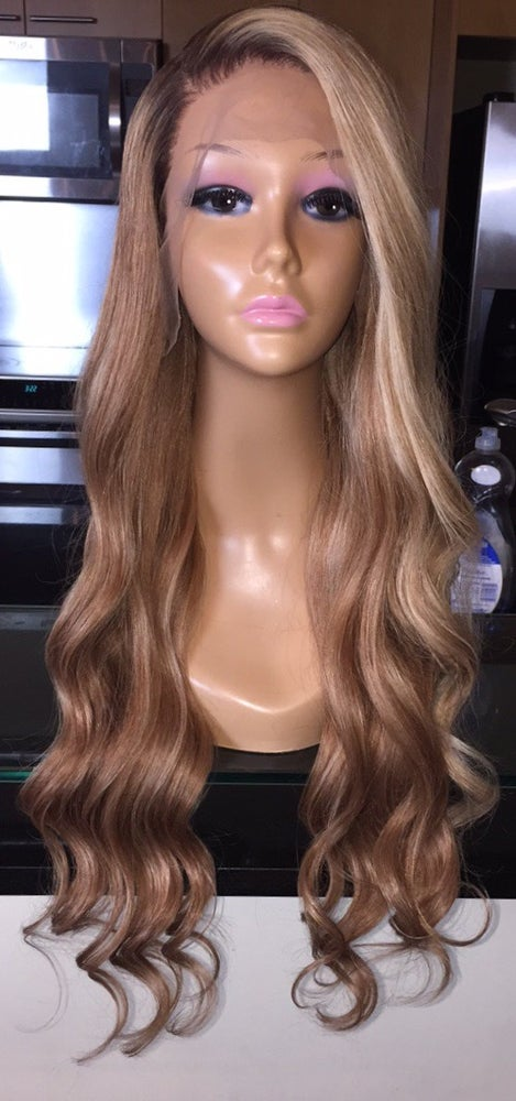 """Image of Indian Natural Wave Cool Toned Blond 24"""" Custom Lace Frontal Wig!"""