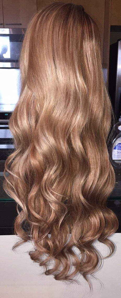 "Image of Indian Natural Wave Cool Toned Blond 24"" Custom Lace Frontal Wig!"