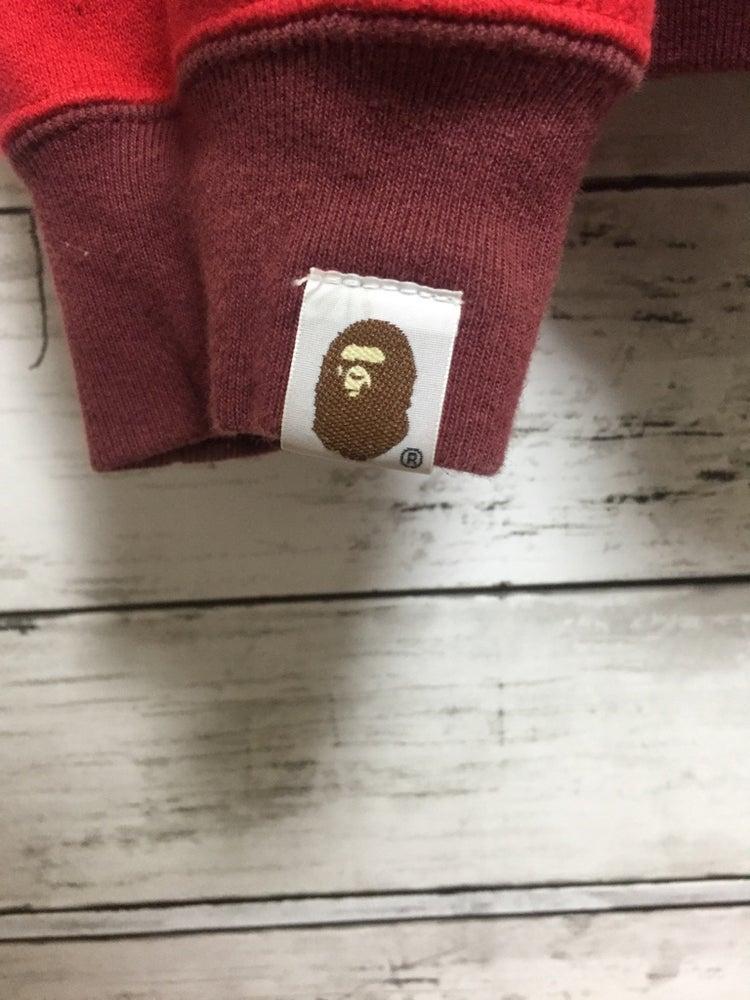 Image of Vintage Bape All Over Logo Print Full Zip Hoodie (R)