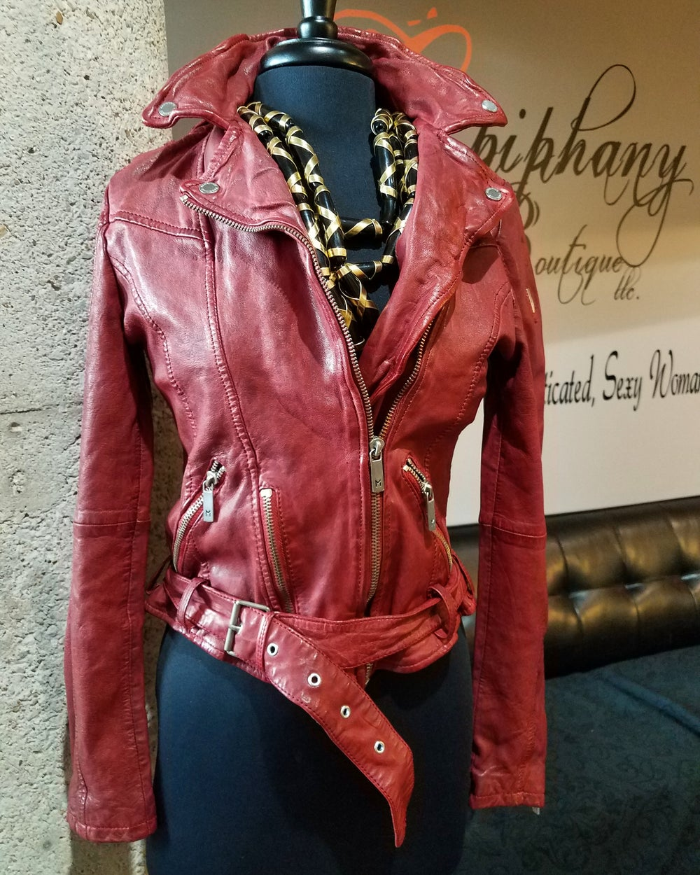Image of The Lamb Biker Jacket-**Regular & Plus Size**