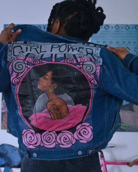 Image of Girl Power Denim Jacket