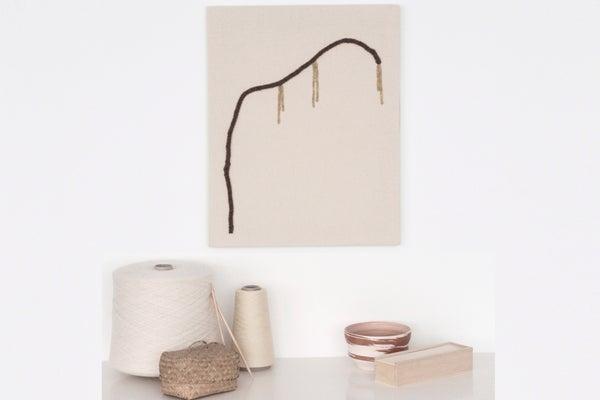 Image of Flor da Aveleira - The Hazelnut flower textile fiber art