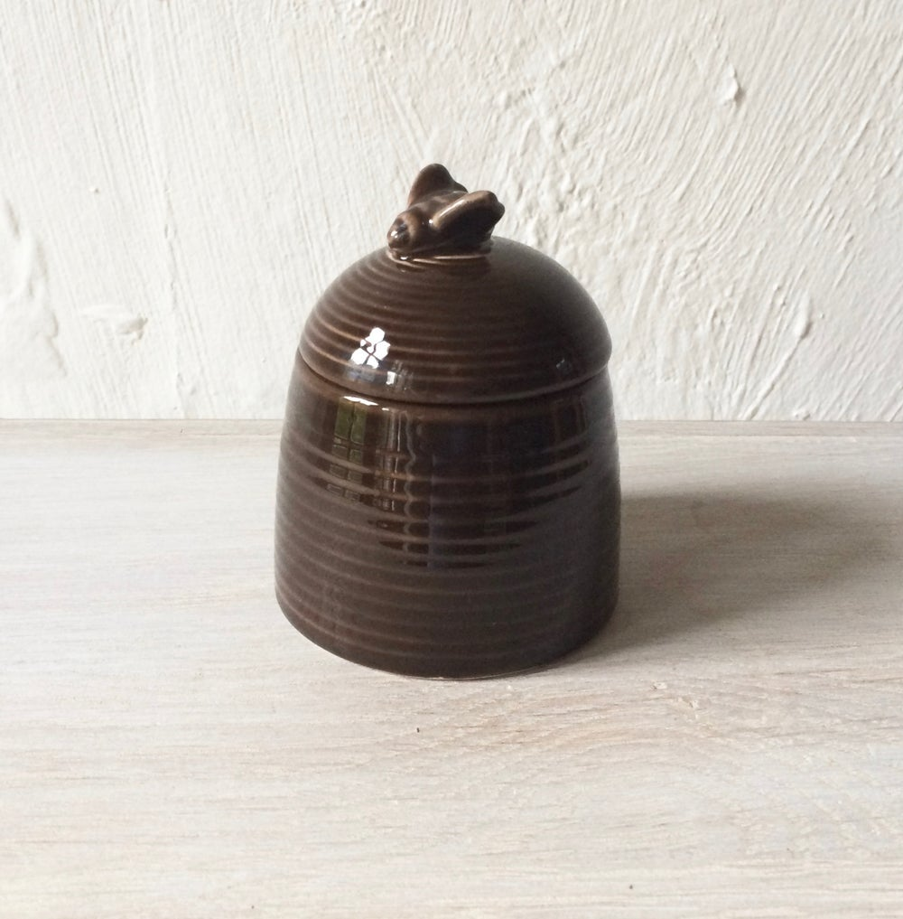 Image of Vintage Ceramic Honey Pot Scented Candle