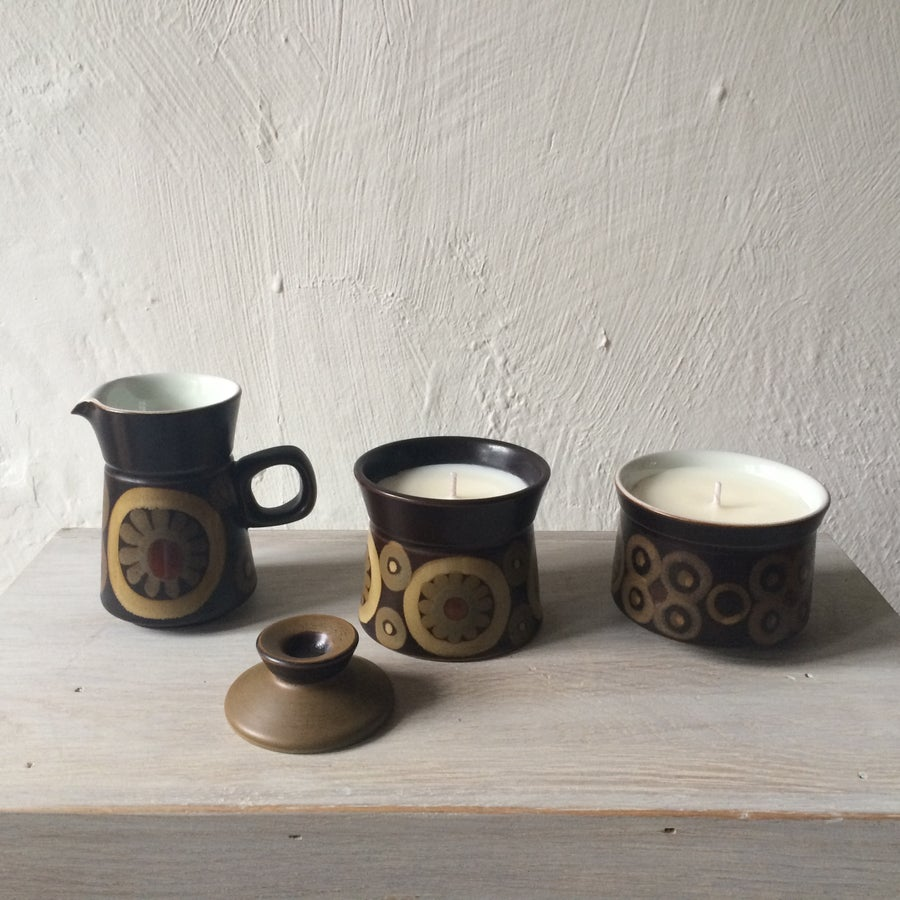 Image of Vintage Denby Arabesque Ceramic Scented Candles