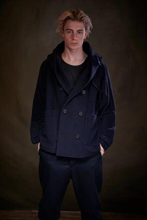 Image of Fisherman Short in Navy wool