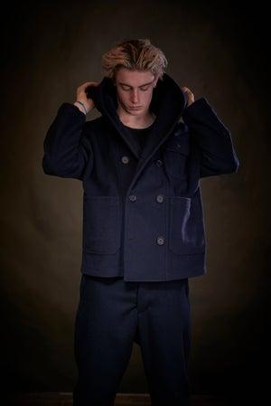 Image of Fisherman Short in Navy wool £315.00